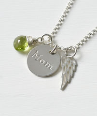 Memorial Necklace for Loss of Mom in Sterling Silver - product images 2 of 7