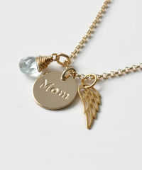 Memorial Necklace for Loss of Mom in Gold Fill - product images 2 of 8
