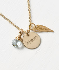 Memorial Necklace for Loss of Mom in Gold Fill - product images 3 of 8