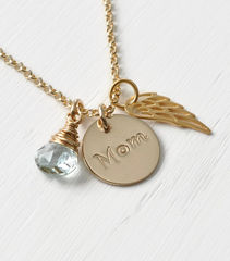 Memorial Necklace for Loss of Mom in Gold Fill - product images 4 of 8
