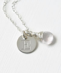 Sterling Silver October Birthstone Initial Necklace - product images 3 of 8