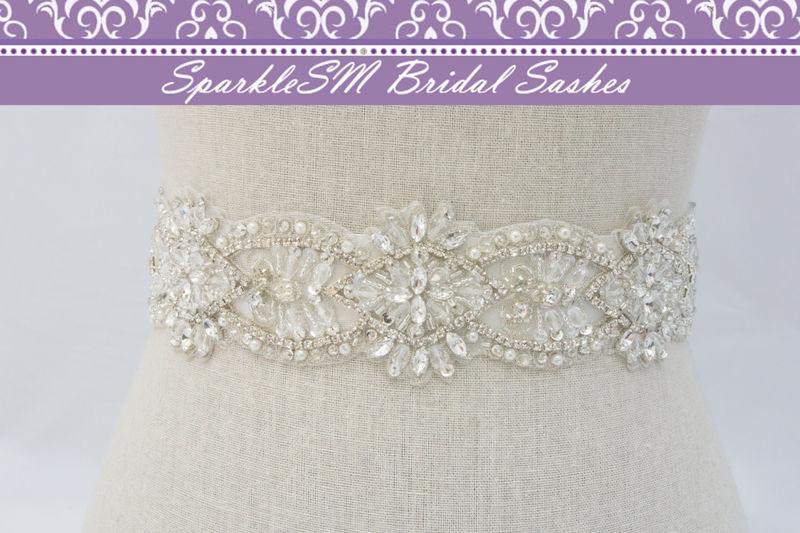 Rhinestone Sash for Wedding Dress