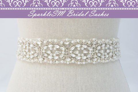 Rhinestone,Pearl,Bridal,Sash,,Belt,,Swarovski,Crystal,Pearl,,Dress,SparkleSM,,Mila,Weddings,Accessories,pearl_bridal_sash,bridal_belt,bridal_sash,swarovski_sash,crystal_bridal_belt,crystal_bridal_sash,wedding_dress_sash,wedding_belt_sashes,bridal_dress_sash,bridesmaids_sashes,SparkleSM_Bridal,pearl_bridal_belt,pearl_sash