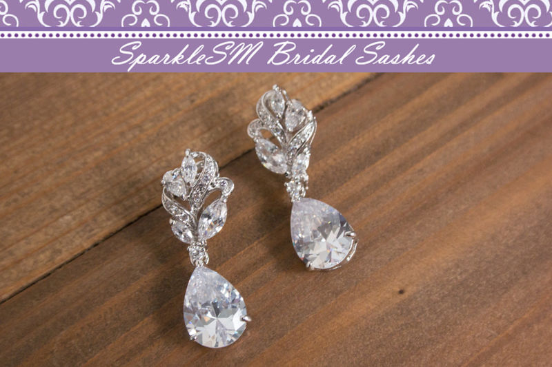 Swarovski Earring Bridal Wedding Chandelier Vintage Style Earrings Rhinestone