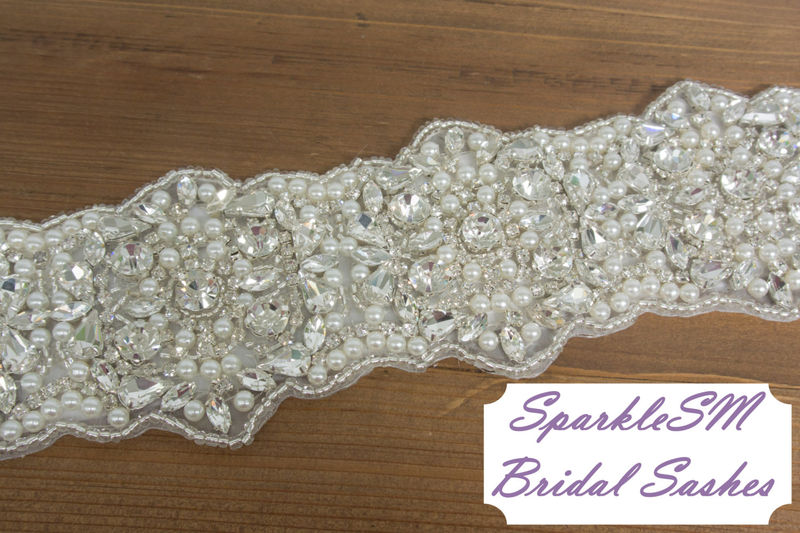 Rhinestone Bridal Sash Beaded Bridal Belt Bridal Sash