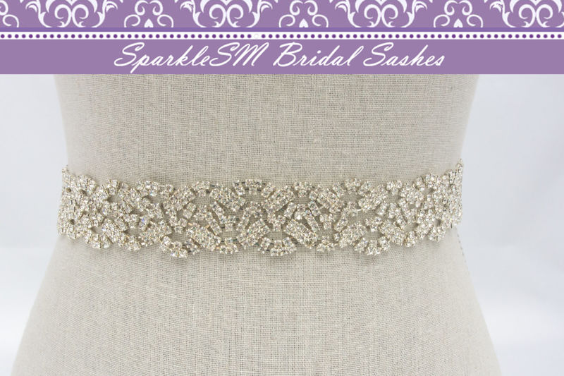 Bridal Sash Wedding Sash Bridal Belt Crystal Bridal