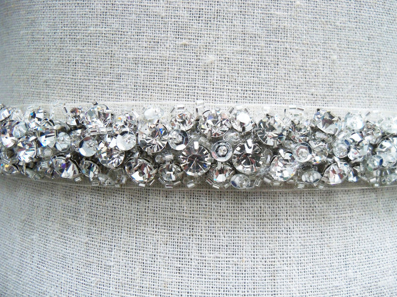 Bridal Sash, Wedding Sash, Bridal Belt, Crystal Sash, Rhinestone ...