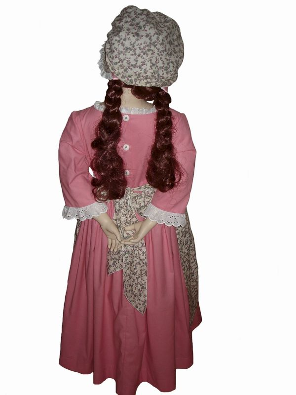 Custom Boutique Historical American Girl Inspired Felicity Colonial SPRING Dress Set - product images  of