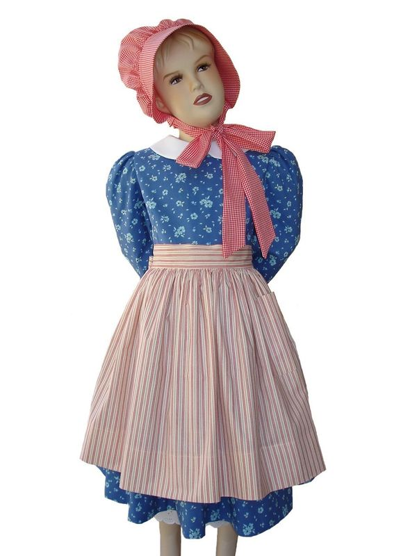 Custom Boutique American Girl Inspired KIRSTEN Pioneer/Prairie Dress Set - product images  of