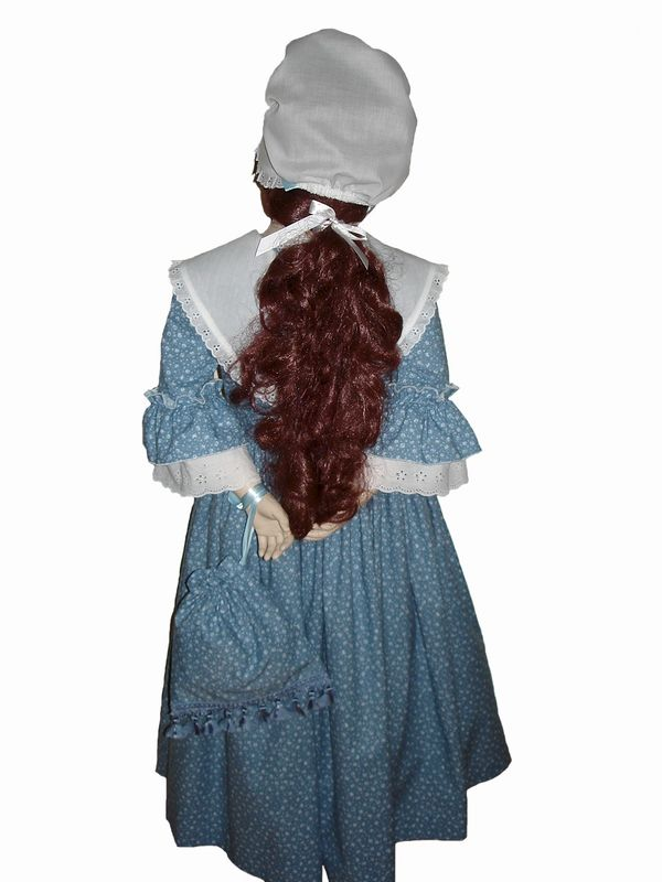 Custom Boutique Historical American Girl Inspired Felicity Colonial MARKET Dress Set - product images  of