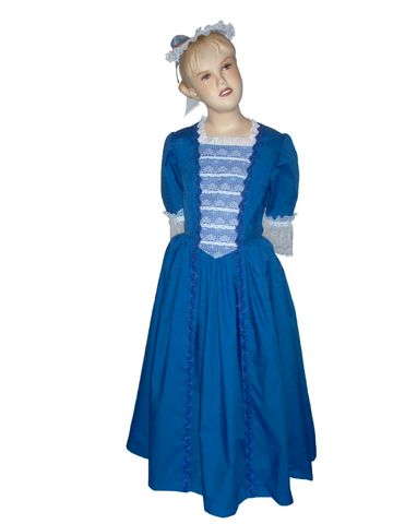 Custom,Boutique,Historical,American,Girl,Inspired,FELICITY,Christmas,Colonial,Ball,Gown,Children, Clothing, Costume, dress, made to order costume, colonial dress, girl dress, handmade, colonial america, dress up, christmas, christmas gift, williamsburg, clothing, magicalattic, pretend play, storybook character, royal blue gown