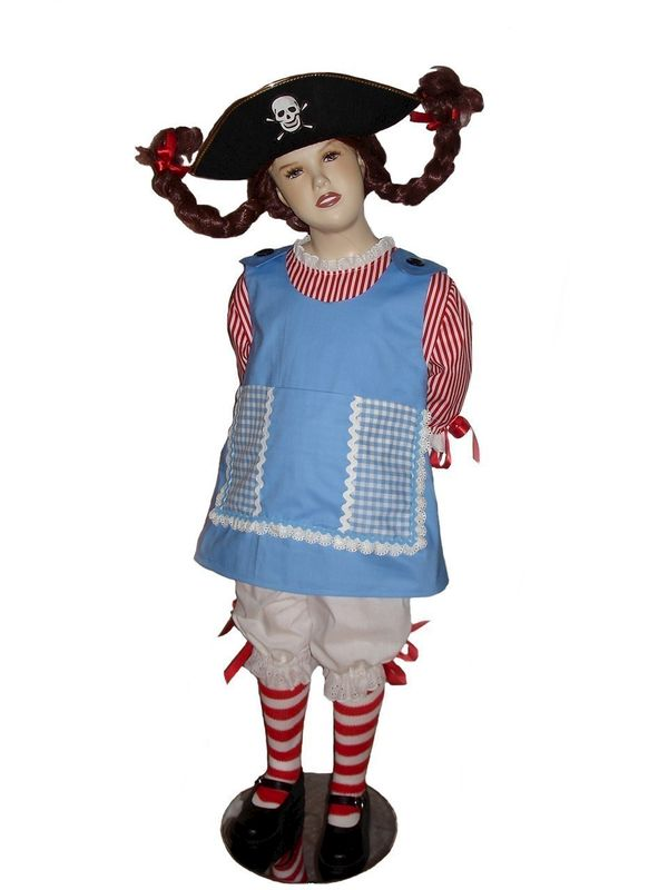 Custom Boutique Halloween PIPPI LONGSTOCKING Girl Size Costume Set - product images  of