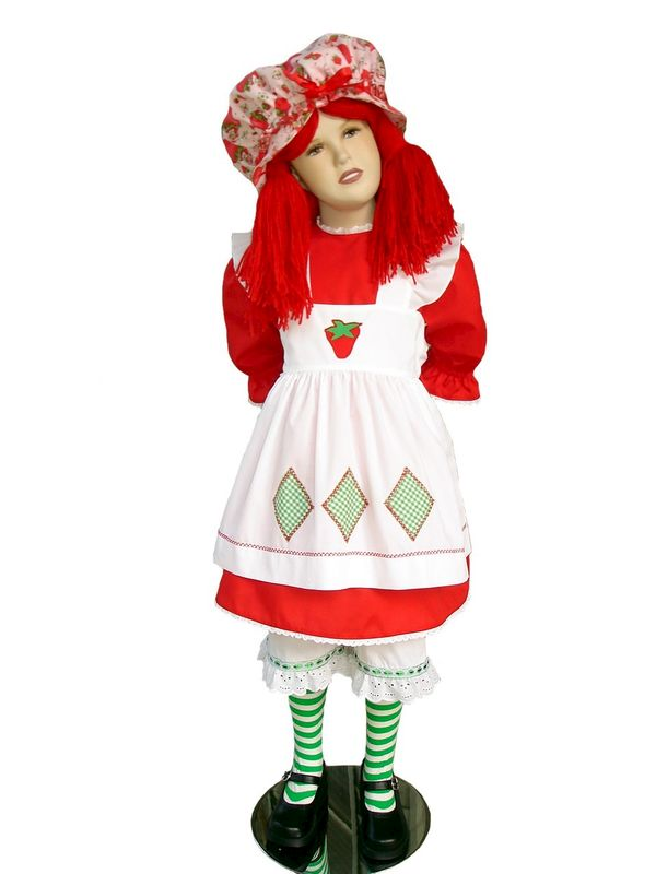 Custom Boutique Halloween STRAWBERRY SHORTCAKE Girl's Costume Set - product images  of