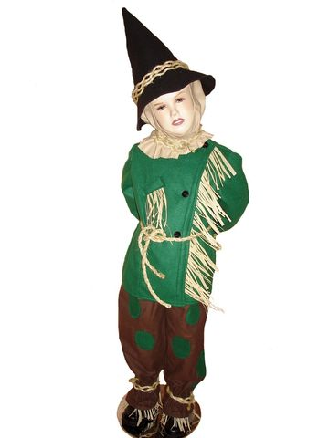 Custom,Boutique,SCARECROW,of,Wizard,Oz,Child's,Size,Costume,Set,Children, Clothing, custom costume, handmade, halloween, dress up, halloween costume, school play, made to size, dorothy dress, tin man, toto, clothing, brown flannel, green fleece, black felt
