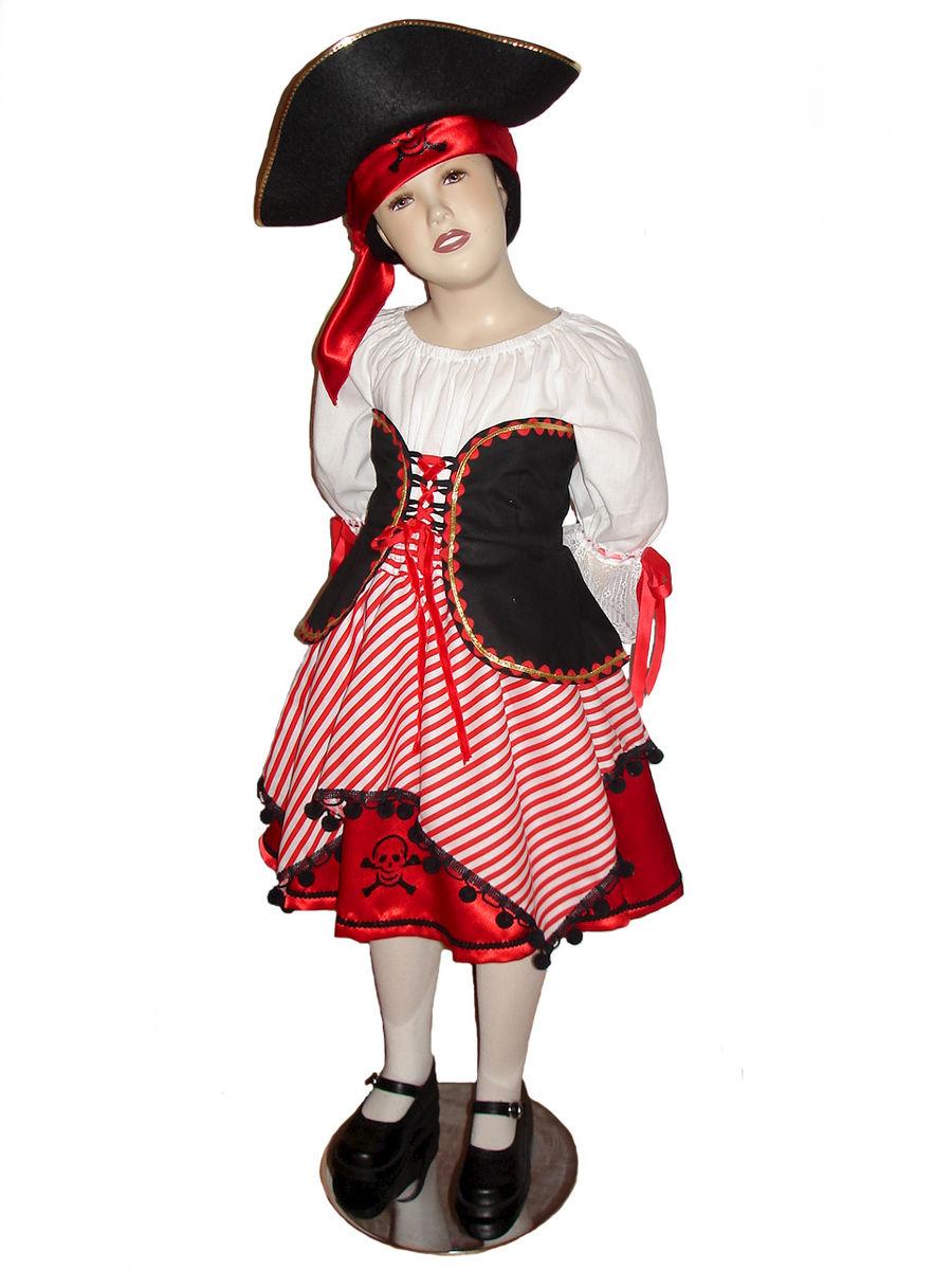Custom Boutique Halloween PIRATE Girls Size Costume Set - Boutique Halloween Costumes