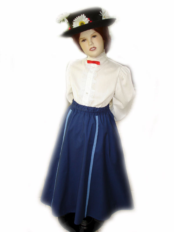 Custom Boutique Halloween MARY POPPINS Nanny Girls Size - Boutique Halloween Costumes