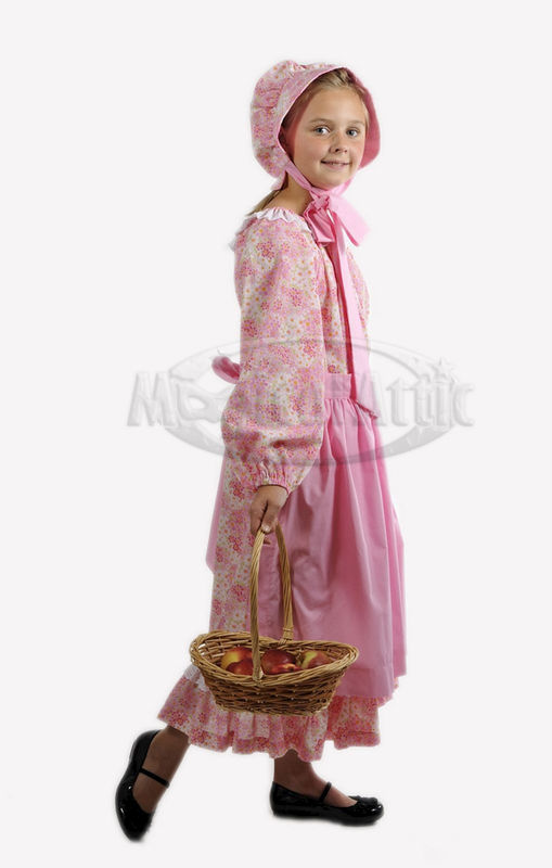 Custom Boutique American Girl Inspired Pioneer/Prairie Style Girl's Dress Set - product images  of