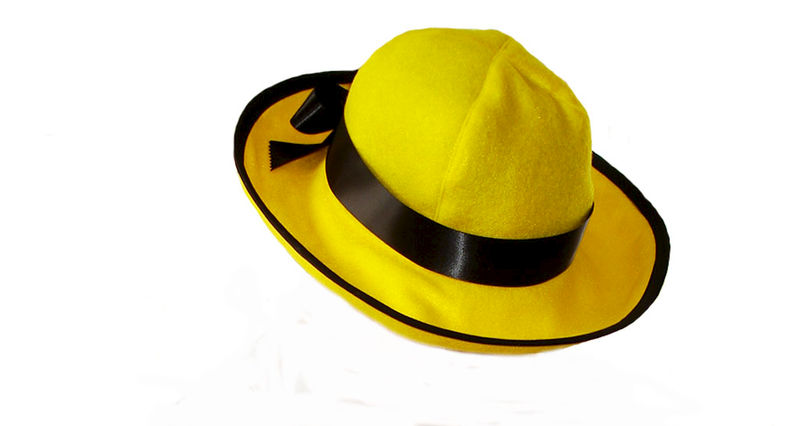 custom boutique halloween madeline yellow felt hat