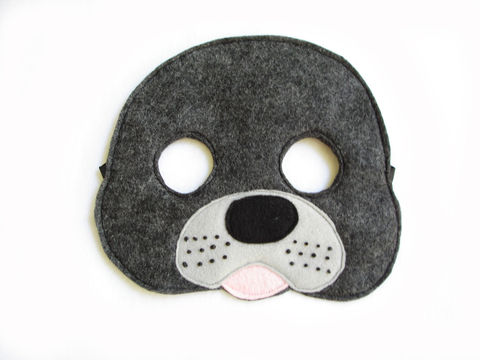Children's,SEAL,Felt,Mask,,What,Does,The,Fox,Say,Children, Clothing, Costume, dress up, pretend play, halloween costume, christmas gift, party favor, felt mask, kids mask, animal mask, birthday gift, toy, fox mask, fish mask, magicalattic