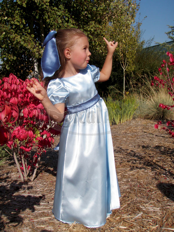 Custom Boutique WENDY Darling of Peter Pan Girl's Blue Costume Dress - product images  of