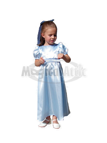 Custom,Boutique,WENDY,Darling,of,Peter,Pan,Girl's,Blue,Costume,Dress,Children, Clothing, Costume, handmade, clothing, girl, custom boutique, halloween, dress up, pageant, portraits, made to order costume, red wig, magicalattic
