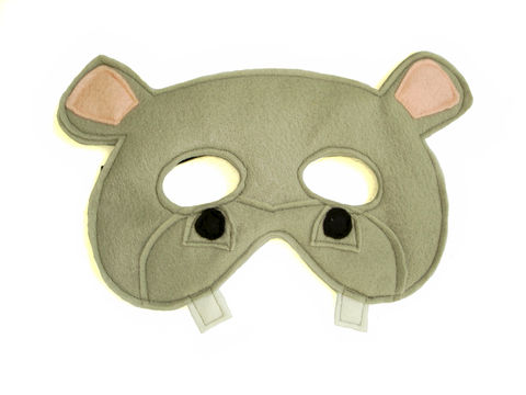 Children's,Safari,Animal,HIPPOPOTAMUS,Felt,Mask,Children, Clothing, Costume, pretend play, halloween costume, party favor, felt mask, kids mask, woodland animal mask, boys mask, jungle animal, safari animal, hippo, Africa safari, magicalattic, zoo animal