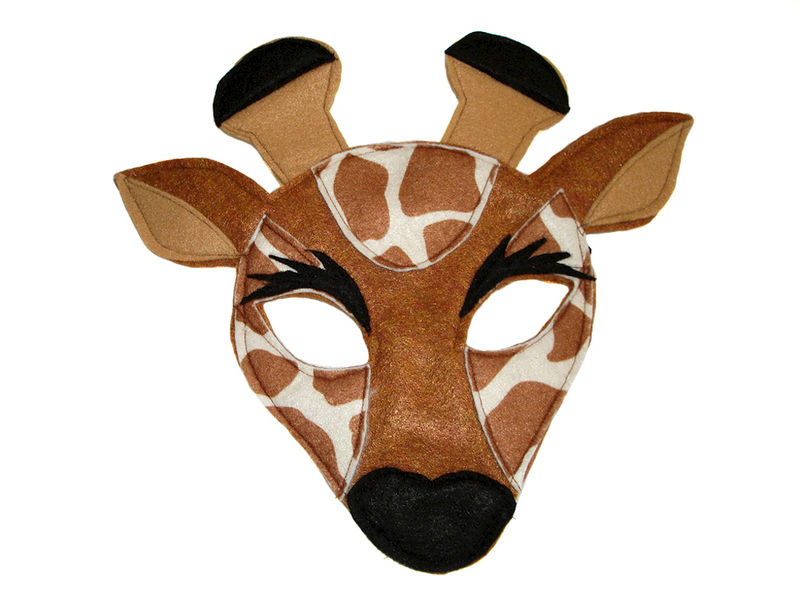 Children's Safari Animals Felt Mini Combo of 4 Masks - product images  of