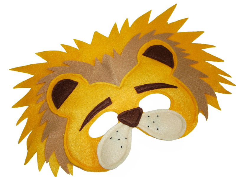 Children's Safari Animal LION Felt Mask - product images  of