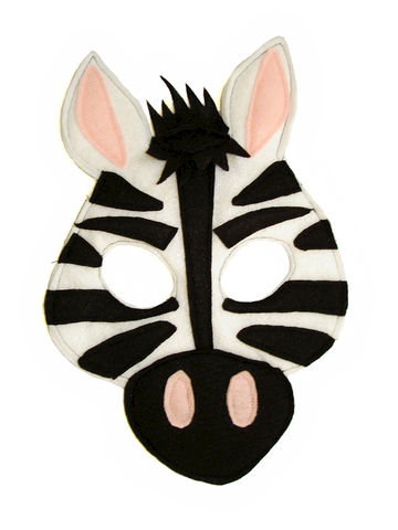 Children's,Safari,Animal,ZEBRA,Felt,Mask,Children, Clothing, Costume, dress up, pretend play, halloween costume, party favor, felt mask, kids mask, woodland animal mask, boys mask, jungle animal, safari animal, lion king, simba, zoo animal mask, magicalattic