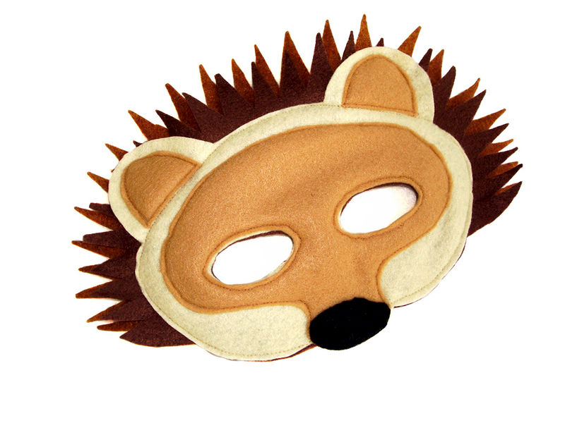 Hedgehog Felt Mask