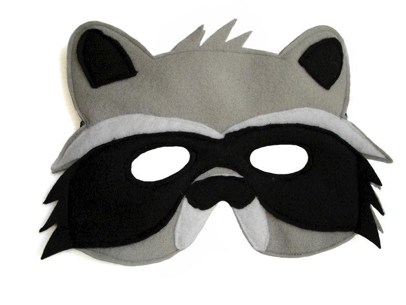 children s woodland animal raccoon felt mask magical attic