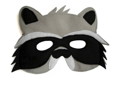 Children's,Woodland,Animal,RACCOON,Felt,Mask,Children, Clothing, Costume, dress up, pretend play, halloween costume, christmas gift, party favor, felt mask, kids mask, dog mask, woodland animal mask, birthday theme, boys mask, toy mask, magicalattic
