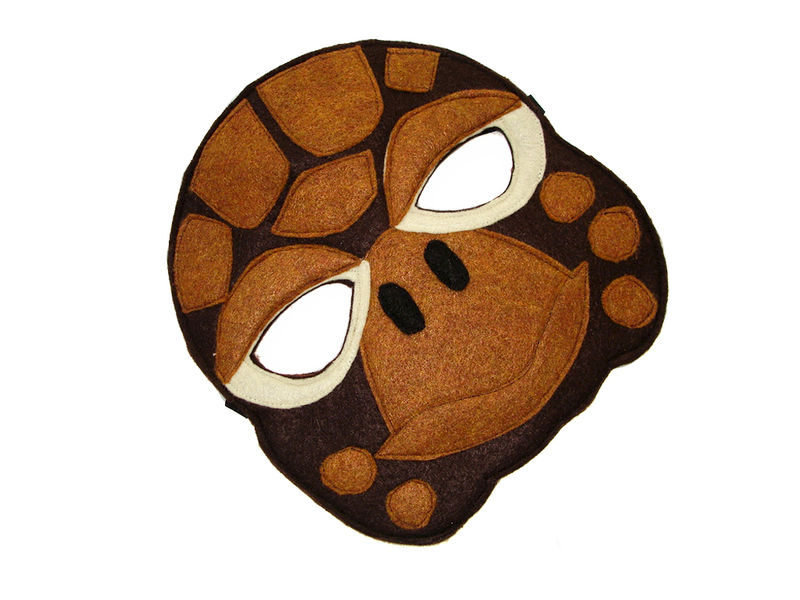 Children's Animal TURTLE Felt Mask - product images  of