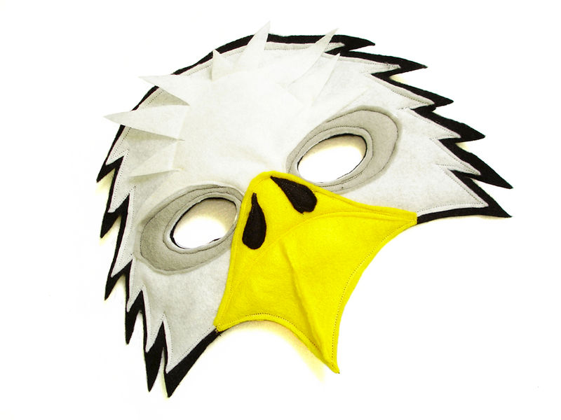 Children S Bald Eagle Felt Mask Magical Attic