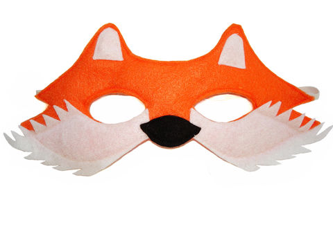 Children's,Woodland,Animal,Fox,Felt,Mask,Children, Clothing, Costume, dress up, pretend play, halloween costume, christmas gift, party favor, felt mask, girls mask, kids mask, fairy princess mask, animal mask, dog mask, kids fox mask, magicalattic