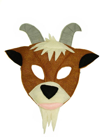 Children's,Farm,Barnyard,Animal,GOAT,Felt,Mask,Children, Clothing, Costume, dress up, pretend play, halloween costume, party favor, felt mask, kids mask, boys mask, toy, birthday party, barnyard animal, farm party, woodland animal mask, magicalattic