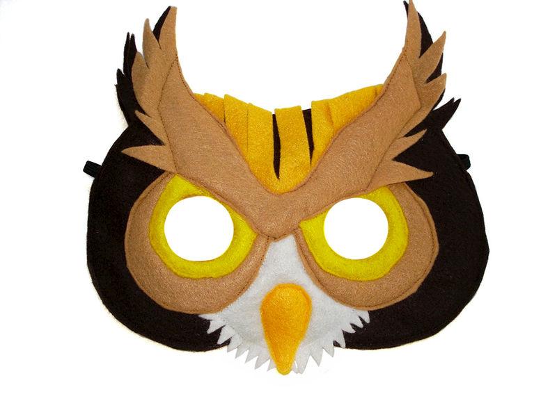 Children S Woodland Animal Owl Felt Mask Magical Attic