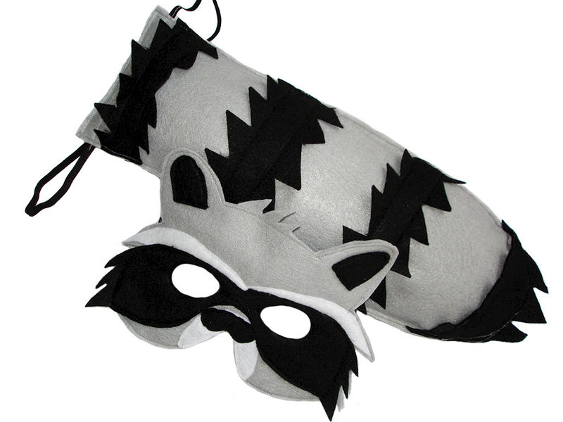 children u0026 39 s woodland animal raccoon felt mask and tail set
