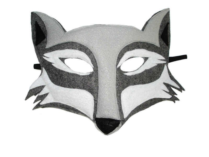 Children's Woodland Animal Halloween WOLF Felt Costume Set - product images  of