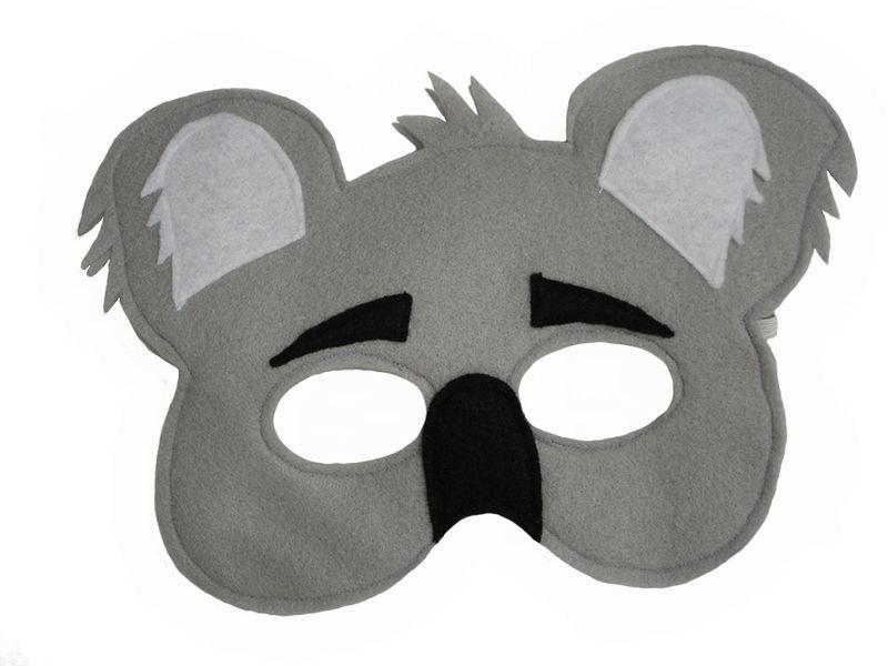 Children\'s Animal KOALA Bear Felt Mask - Magical Attic