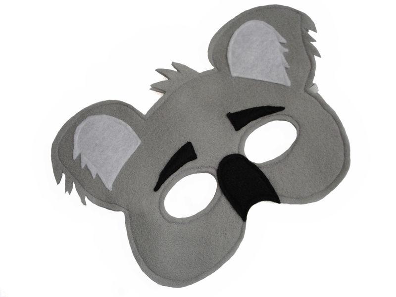Childrens Animal KOALA Bear Felt Mask