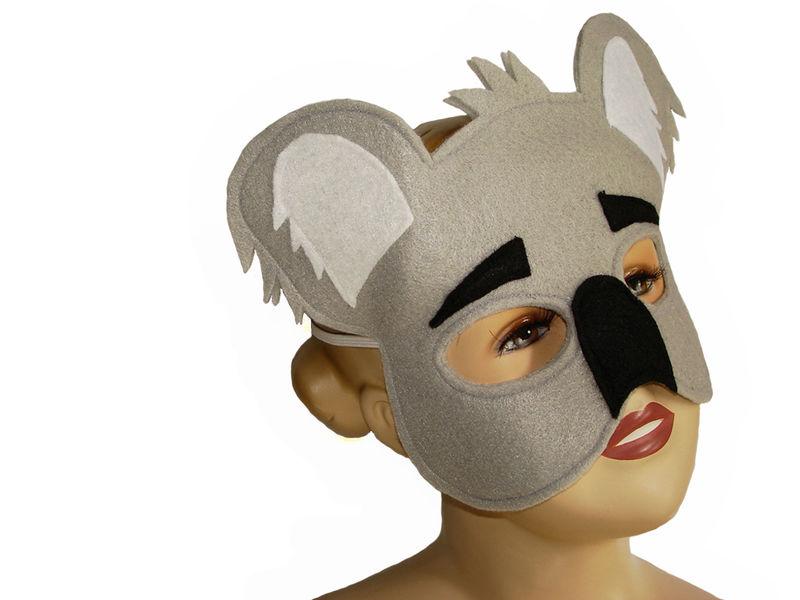 childrens animal koala bear felt mask magical attic