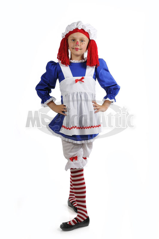 Custom Boutique Halloween RAGGEDY ANN Girls Size Costume - Boutique Halloween Costumes