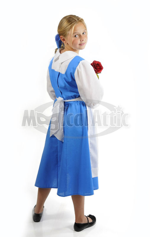 Custom Boutique Halloween Beauty and the Beast Provincial Girl's Costume Dress for BELLE - product images  of