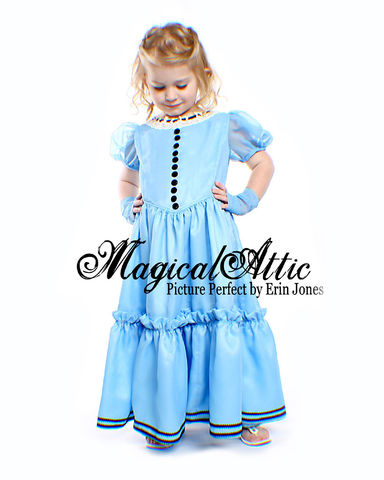 NEW,Custom,Boutique,Alice,in,Wonderland,Blue,Dress,Made,To,Size,Children, Clothing, Costume, made to order costume, girl, dress, dress up, disney, halloween, birthday, gift, princess, easter portrait, magicalattic