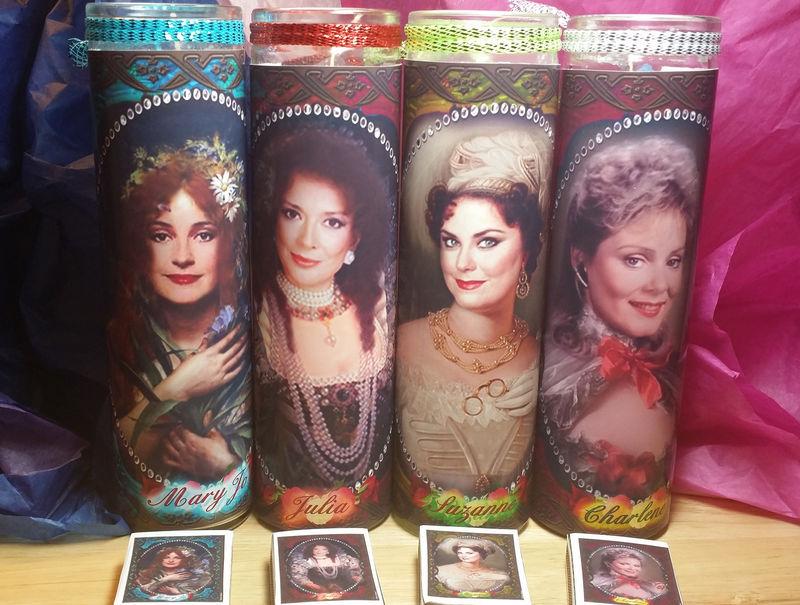 4 Designing Women Celebrity Candle Set Suzanne Julia