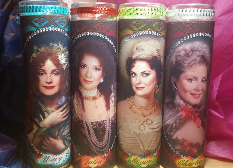 4 Designing Women Celebrity Candle Set Suzanne Julia Charlene And Mary Jo 80s Tv Stars Artcessories By Dakota,Quilted Christmas Tree Wall Hanging