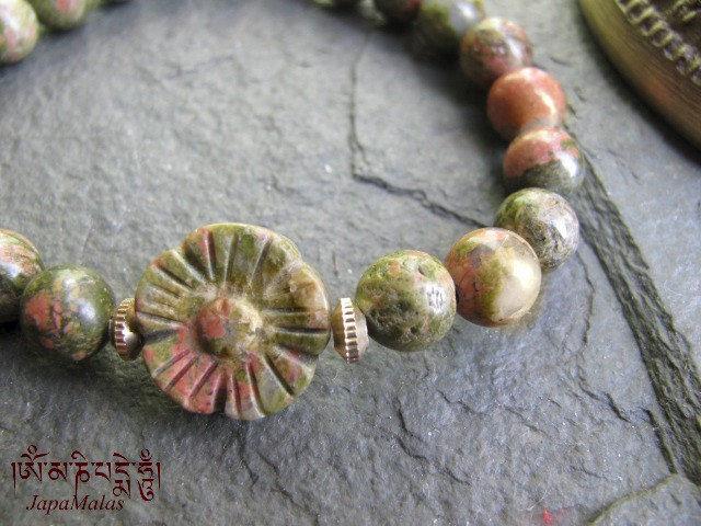Unakite Mala Bracelet Purified Blessed Yoga Product Images
