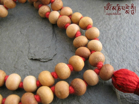 Sandalwood,Japa,Mala,54,beads,traditional,style,hand,knotted,mala,purified,&,blessed,Everything_Else,Religious,Meditation,sandalwood,japa_mala_bead,108_beads,hindu,india,buddhist_mala,meditation,yoga,zen,prayer_beads,worry_beads,Tibetan_mala,sandal wood beads,holy thread,mantras,pure intention