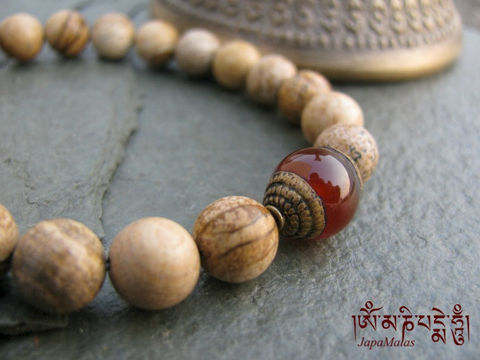 Picture,Jasper,Bracelet,Mala,with,carnelian,guru,bead,purified,&,blessed,mala,Jewelry,Beadwork,buddhist_mala,meditation,yoga,zen,prayer_beads,worry_beads,yoga_jewelry,power_bracelet,bracelet,japa_mala,jasper,energy_bracelet,mantras,pure intention,turquoise